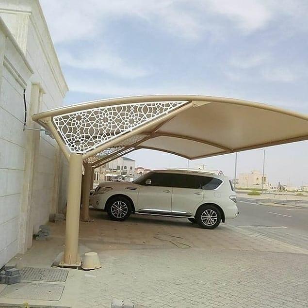 تركيب مظلات سيارات مبارك الكبير